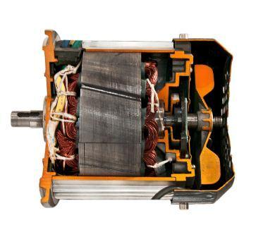 纯电动汽车永磁电机解剖模型